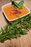 Tomato Carrot Soup with Parsley Royalty Free Stock Photos