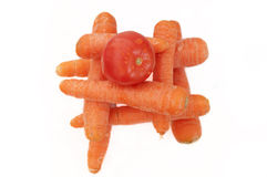 Tomato and carrots Royalty Free Stock Images