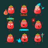 Tomato Cartoon Character Set Stock Images