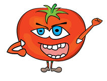 Tomato cartoon character Stock Image