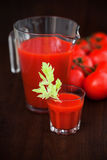 Tomato celery juice in a glass Stock Images