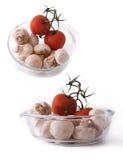 Tomato and champignon Royalty Free Stock Photo