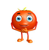 Tomato character with promise pose Royalty Free Stock Photos