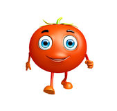 Tomato character with running pose Royalty Free Stock Photography