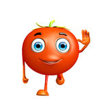 Tomato character with running pose Stock Photography