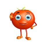 Tomato character with saying hi pose Stock Photography