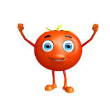 Tomato character with win pose Royalty Free Stock Image