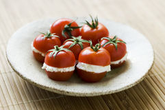 Tomato and cheese Stock Photography