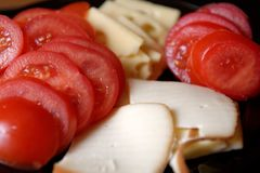 Tomato and Cheese Royalty Free Stock Photos