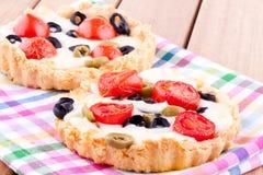 Tomato and cheese tart Stock Image