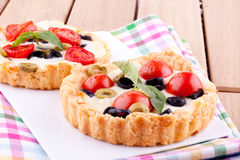 Tomato and cheese tart Royalty Free Stock Photo
