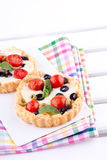 Tomato and cheese tart Royalty Free Stock Image