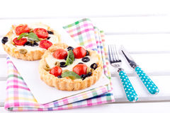 Tomato and cheese tart Stock Photography