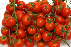 Tomato cherry. Cherry tomatoes in transparent bowl Stock Photo