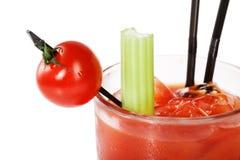 Tomato cherry at blood merry cocktail Stock Photos