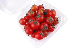 Tomato cherry in box Stock Images