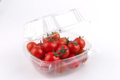 Tomato cherry in box Royalty Free Stock Images