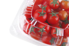 Tomato cherry in box Stock Image
