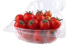 Tomato cherry in box Stock Photos