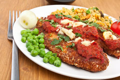 Tomato Chicken Parmesan Royalty Free Stock Photo