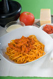 Tomato and chicken pasta Royalty Free Stock Photography