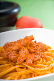 Tomato and chicken pasta Royalty Free Stock Images