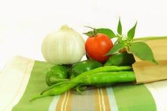 Tomato chili pepper garlic Stock Images