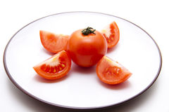 Tomato chopped Royalty Free Stock Images