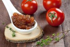 Tomato chutney Stock Photo