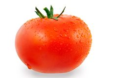 Tomato with Clipping Path Stock Image
