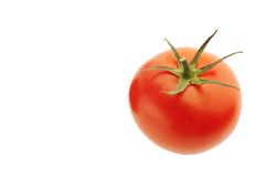 Tomato close up. On white background Royalty Free Stock Image