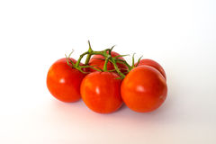 Tomato. Cluster is located on a white background Royalty Free Stock Image