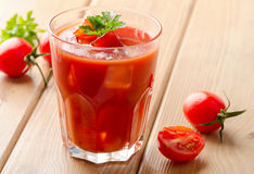 Tomato Cocktail  with   fresh herbs Stock Images
