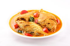 Tomato and coconut  Fish curry from Asian cuisine. Royalty Free Stock Photos