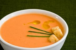 Tomato cold soup Royalty Free Stock Photo