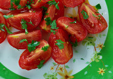 Tomato and Coriander Salad Stock Images