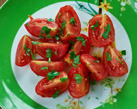 Tomato and Coriander Salad Stock Photography