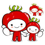 Tomato couple characters to promote Vegetable selling Stock Images