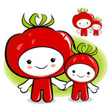 Tomato couple characters to promote Vegetable selling. Vegetable Stock Photography