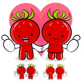 Tomato couple characters to promote Vegetable selling. Vegetable Royalty Free Stock Photography