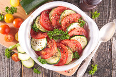 Tomato and courgette Stock Image