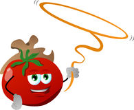 Tomato cowboy with lasso Stock Photos