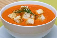 Tomato cream soup Royalty Free Stock Image