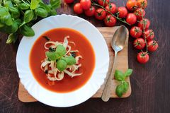 Tomato cream soup Stock Photography