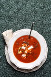 Tomato cream soup Royalty Free Stock Images