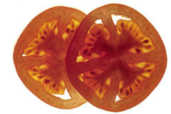 Tomato cross sections Royalty Free Stock Photo