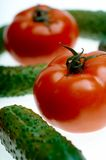 Tomato and cucucmber Stock Photography