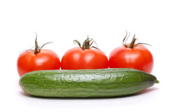 Tomato and cucumber. Stock Photo