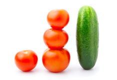 Tomato and cucumber Royalty Free Stock Images