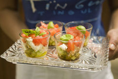 Tomato,cucumber and feta salads Royalty Free Stock Images